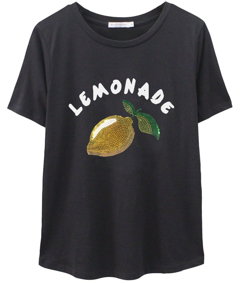 Lola - Loose Tee - Lemonade - Black