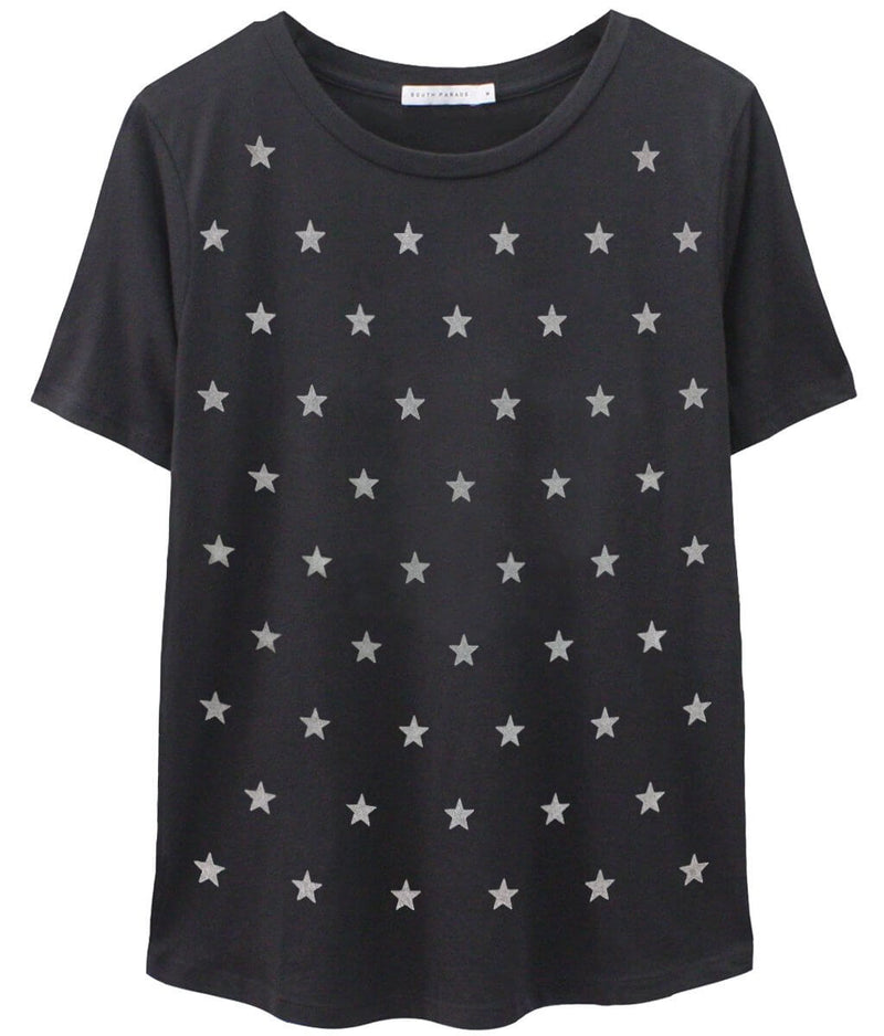 Lola - Loose Tee - Mini Stars - Black/Grey Stars