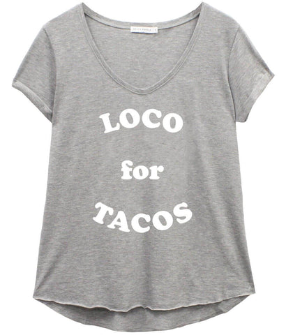 Valerie - V-neck Tee - Loco for Tacos