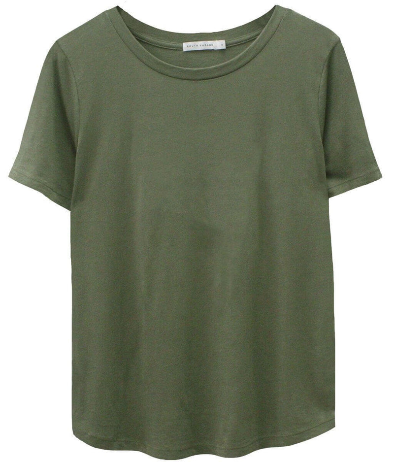 Lola - Basic Loose Tee - Army Green