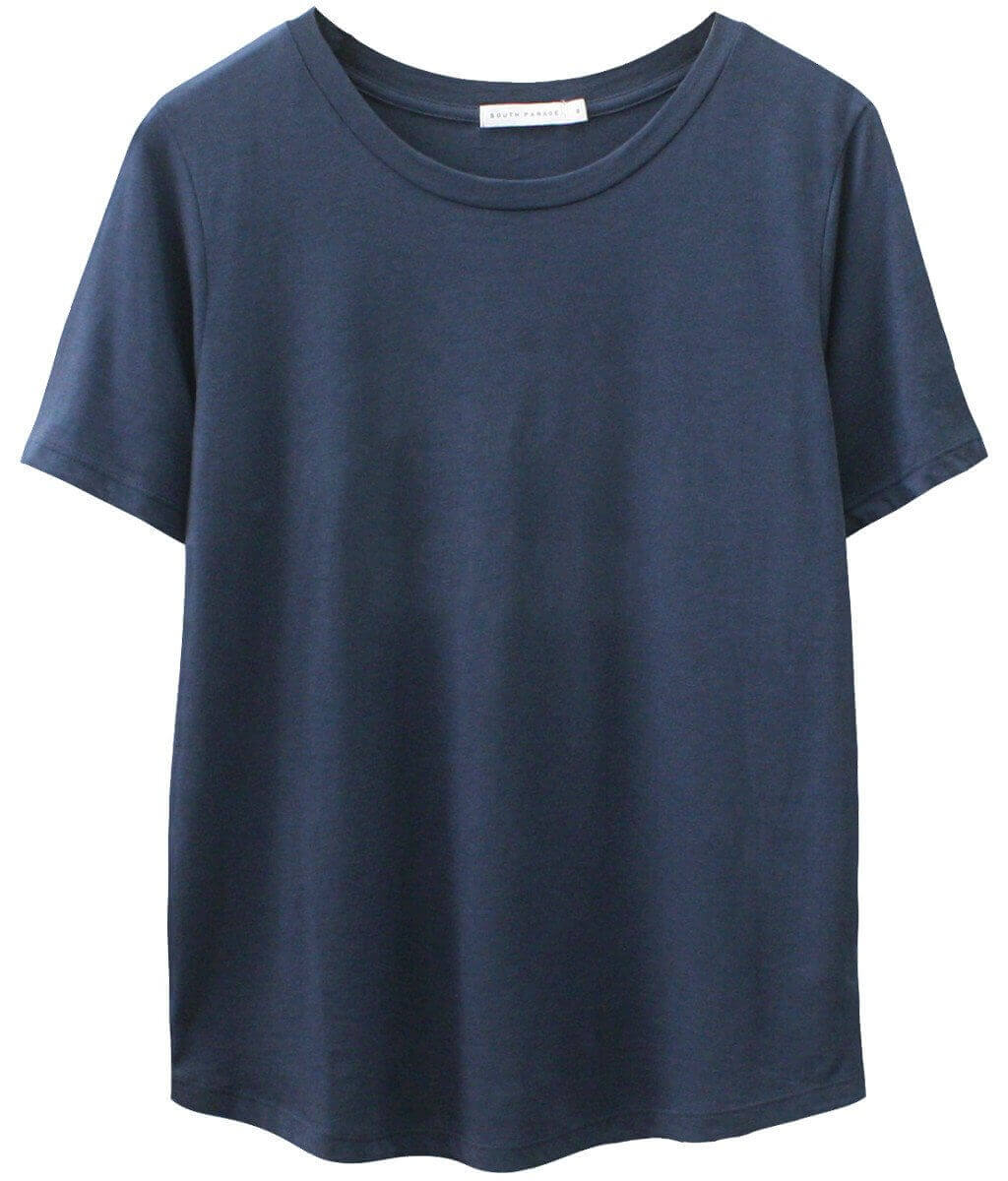 Lola - Basic Loose Tee - Navy Blue
