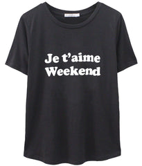 Lola - Loose Tee - Je t'aime Weekend