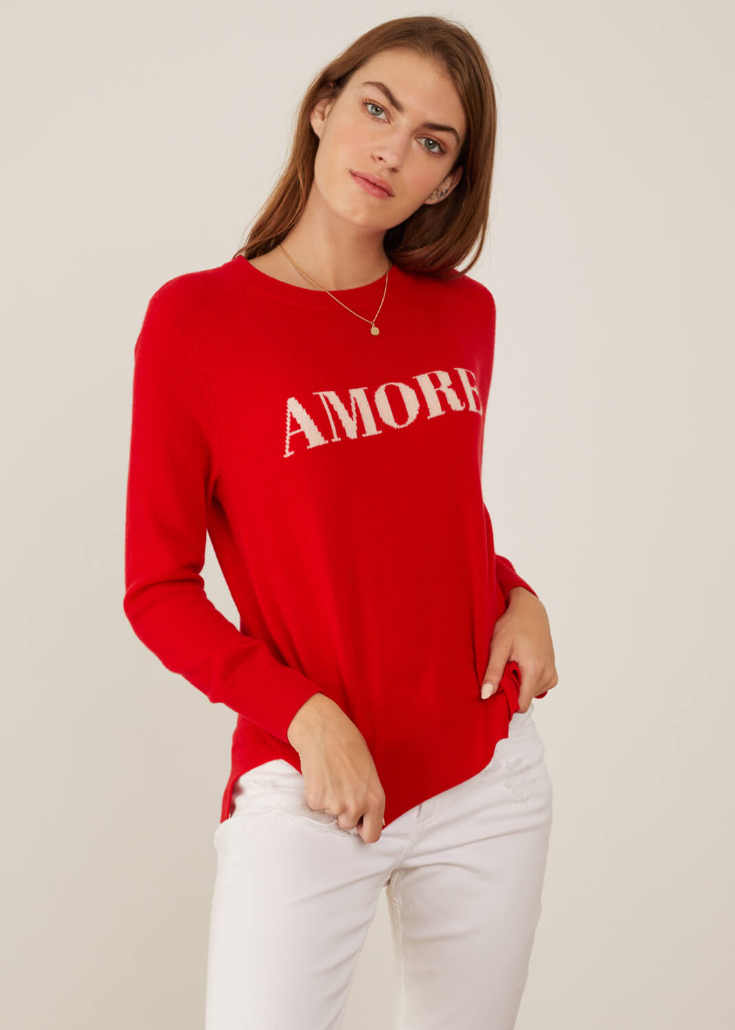 Sophie - Sweater - Amore - Red