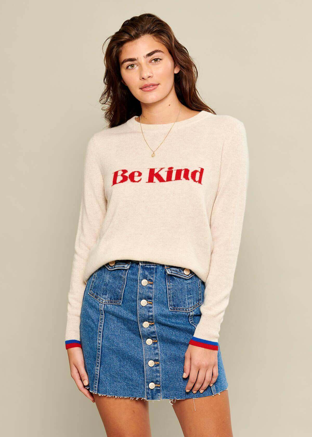 Sophie - Sweater - Be Kind - Beige
