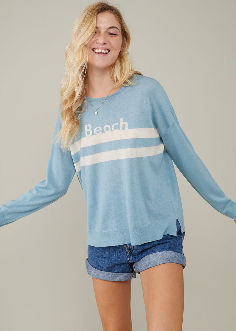 Susan - Sweater - Beach - Aqua