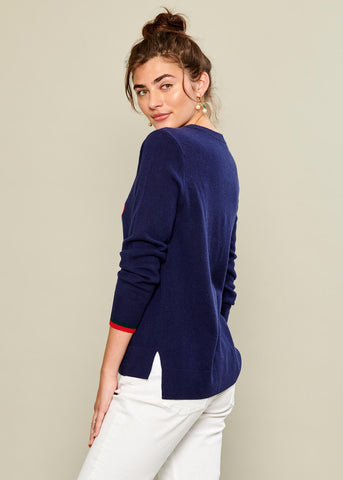 Sophie - Sweater - Cherries - Navy
