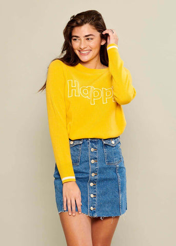 Sophie - Sweater - Happy - Yellow