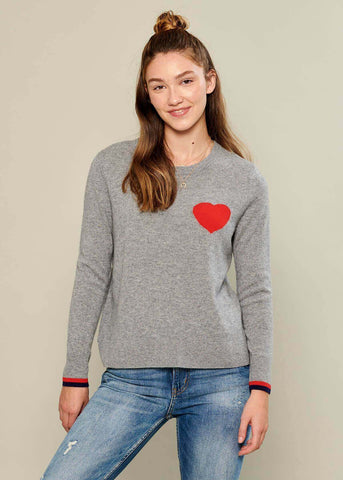 Sophie - Sweater - Heart - Gray