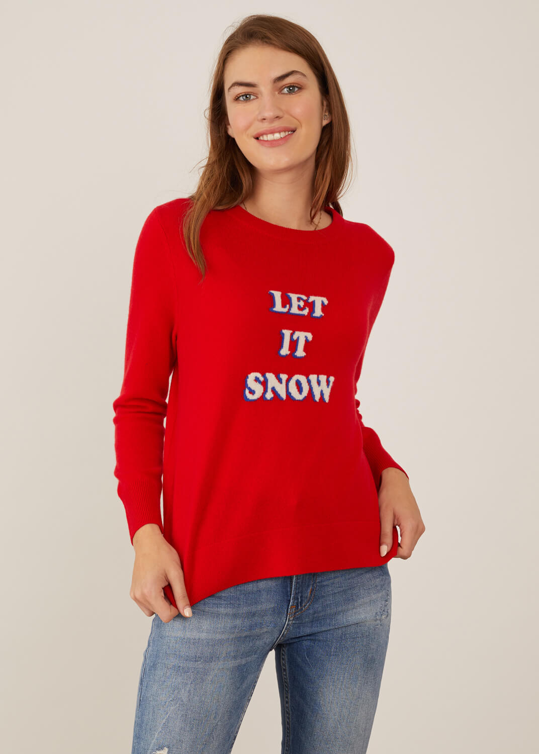 Sophie - Sweater - Let It Snow - Red