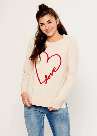 Sophie - Sweater - Love - Beige