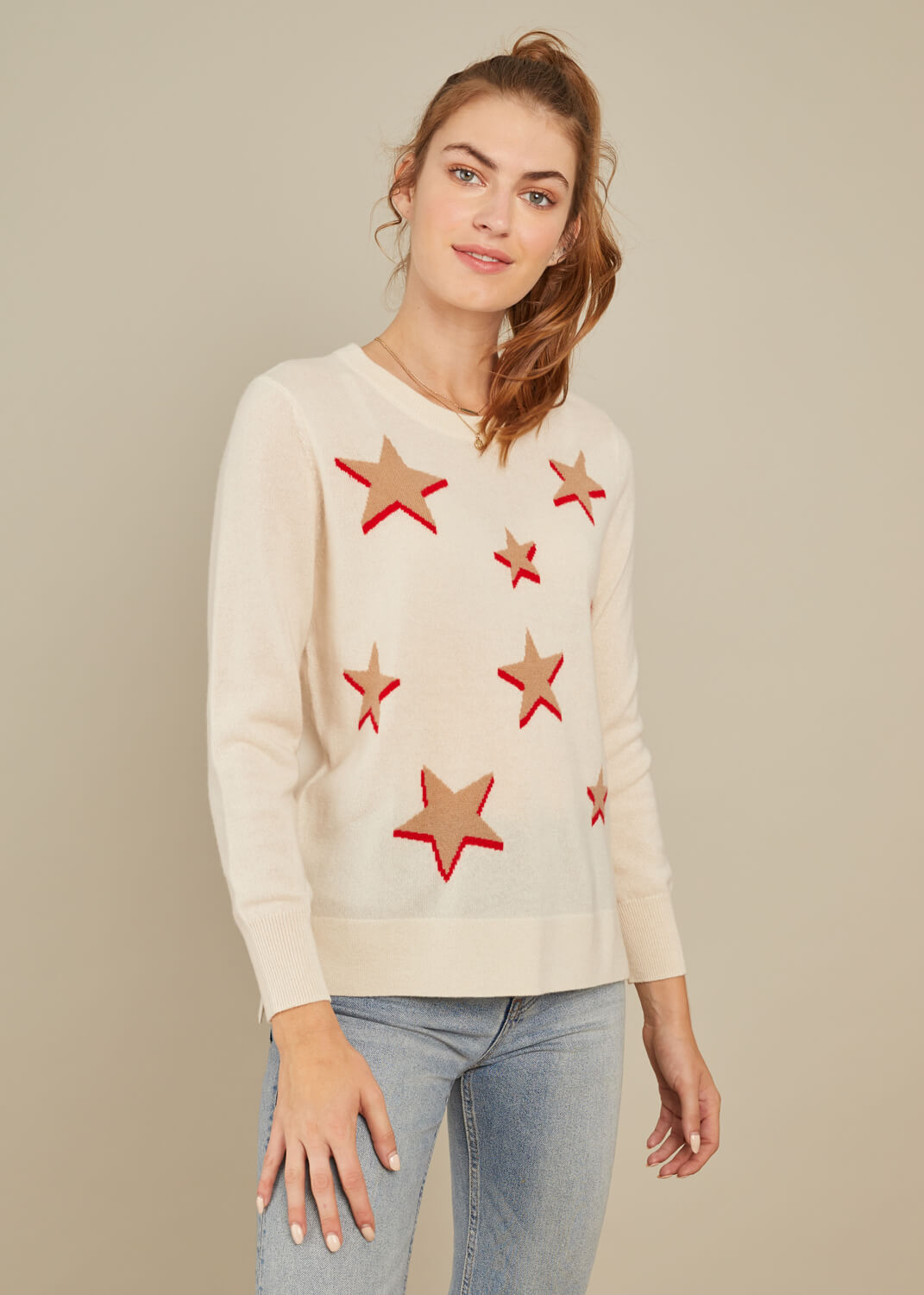 Sophie - Sweater - Stars - Cream