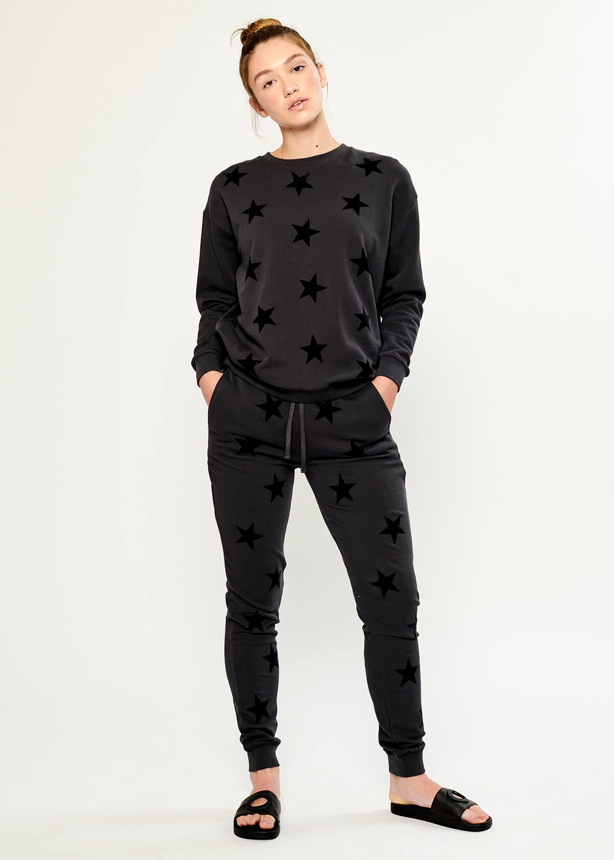 Lucy - Sweatpant - Super Star - Black