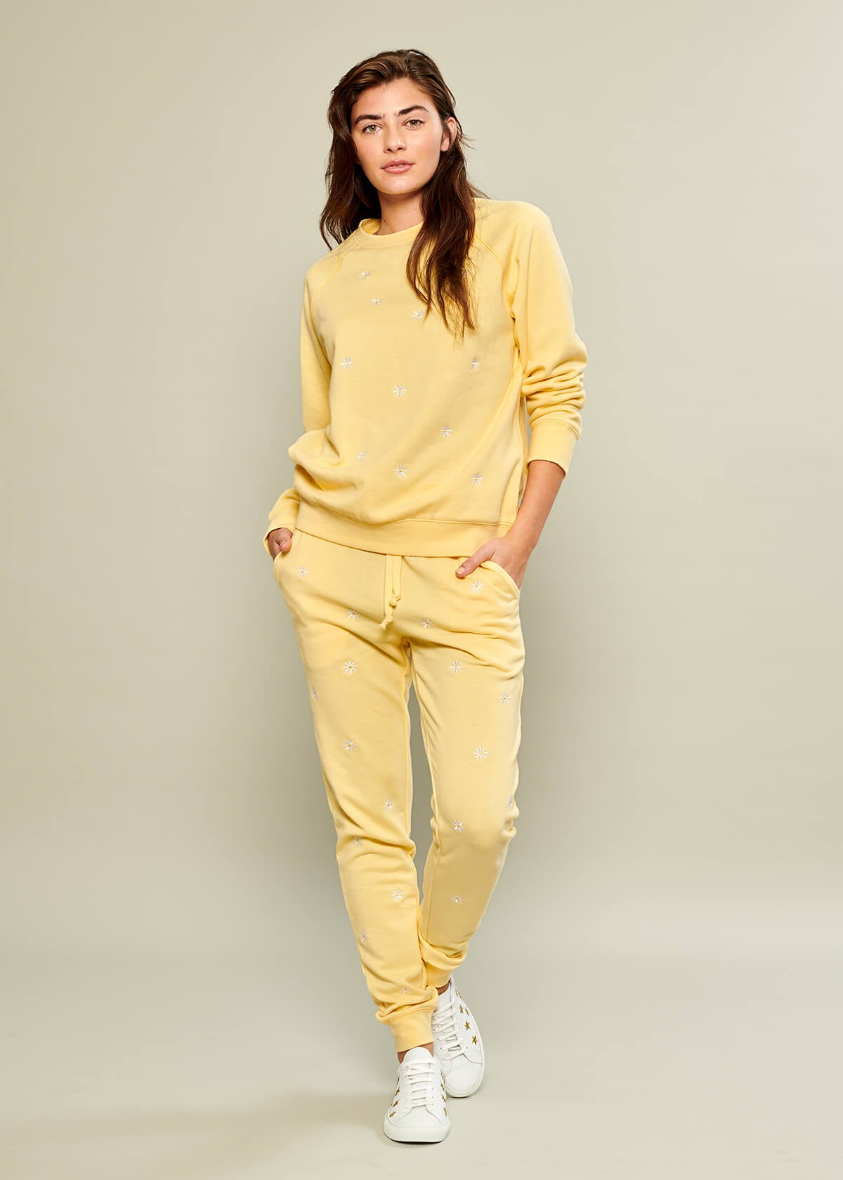 Lucy - Sweatpant - Mini Daisies - Yellow