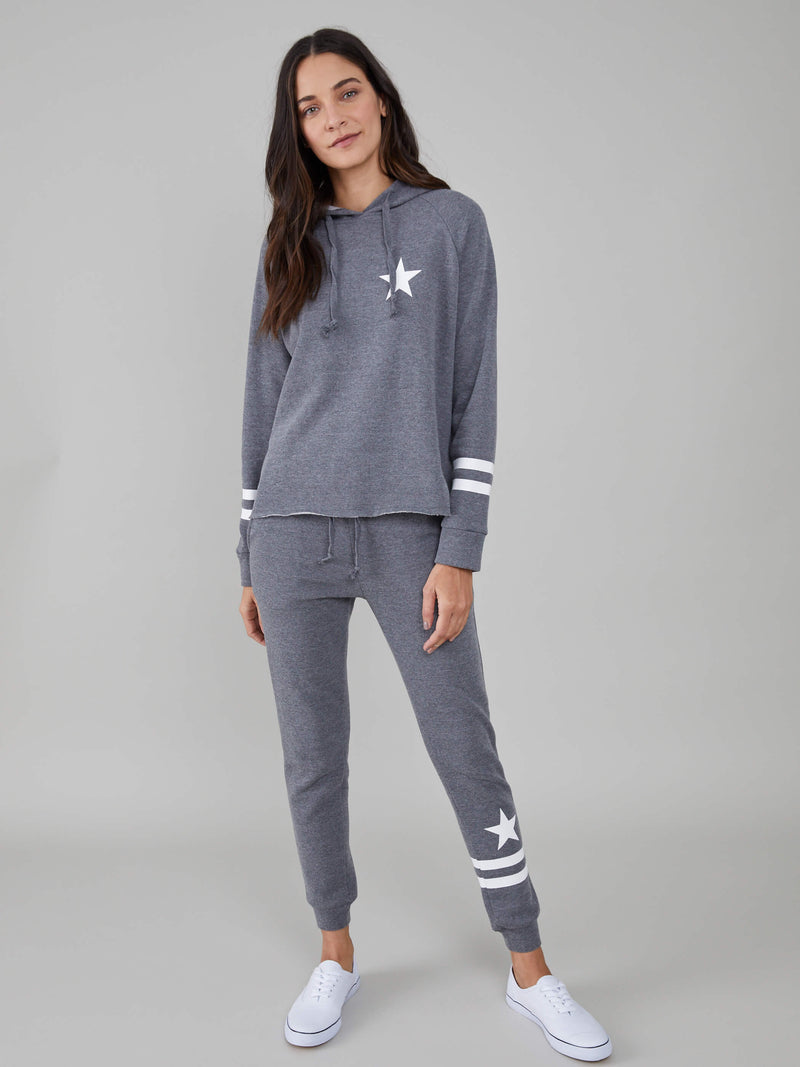 Lucy - Sweatpant - Stars & Stripes - Dark Heather Grey