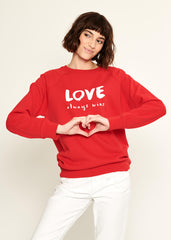Rocky - Sweatshirt - Love Always Wins - Red