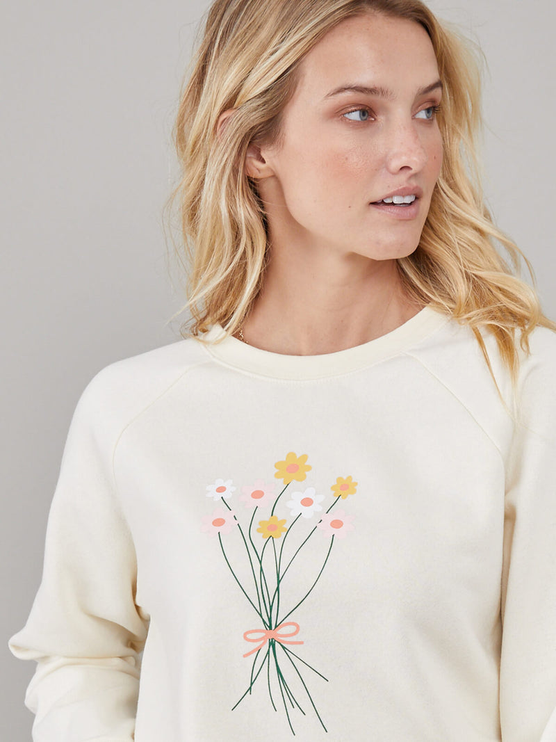 Rocky - Sweatshirt - Flower Bouquet - Cream