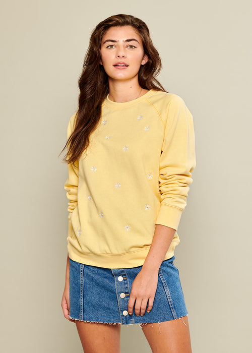 Rocky - Sweatshirt - Mini Daisies - Yellow