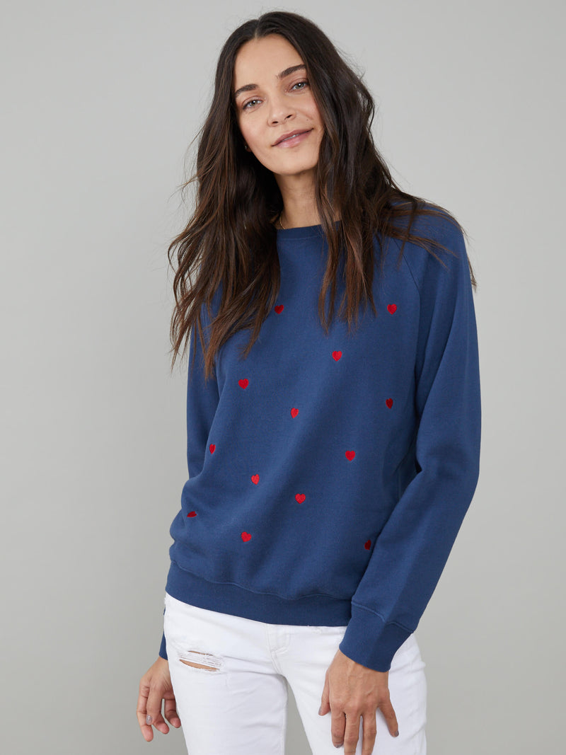 Rocky - Sweatshirt - Mini Hearts - Navy Blue