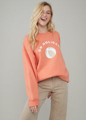 Alexa - Oversized Sweatshirt - On Holiday - Melon