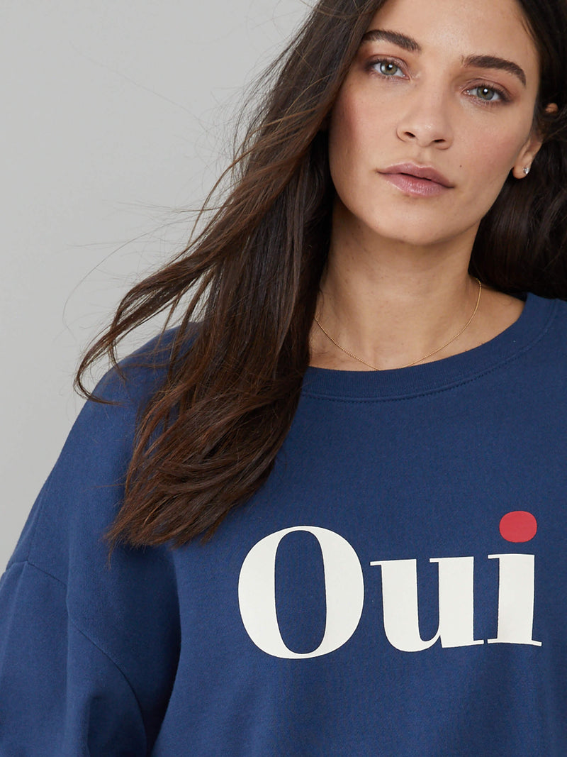 Alexa - Oversized Sweatshirt - Oui - Navy Blue