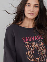 Alexa - Oversized Sweatshirt - Sauvage - Smoke Black