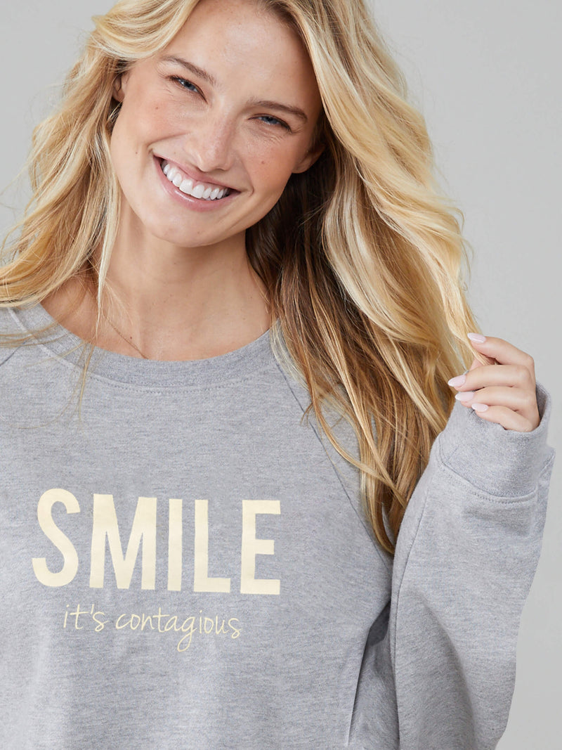 Rocky - Sweatshirt - Smile It's Contagious - Mid Heather Grey