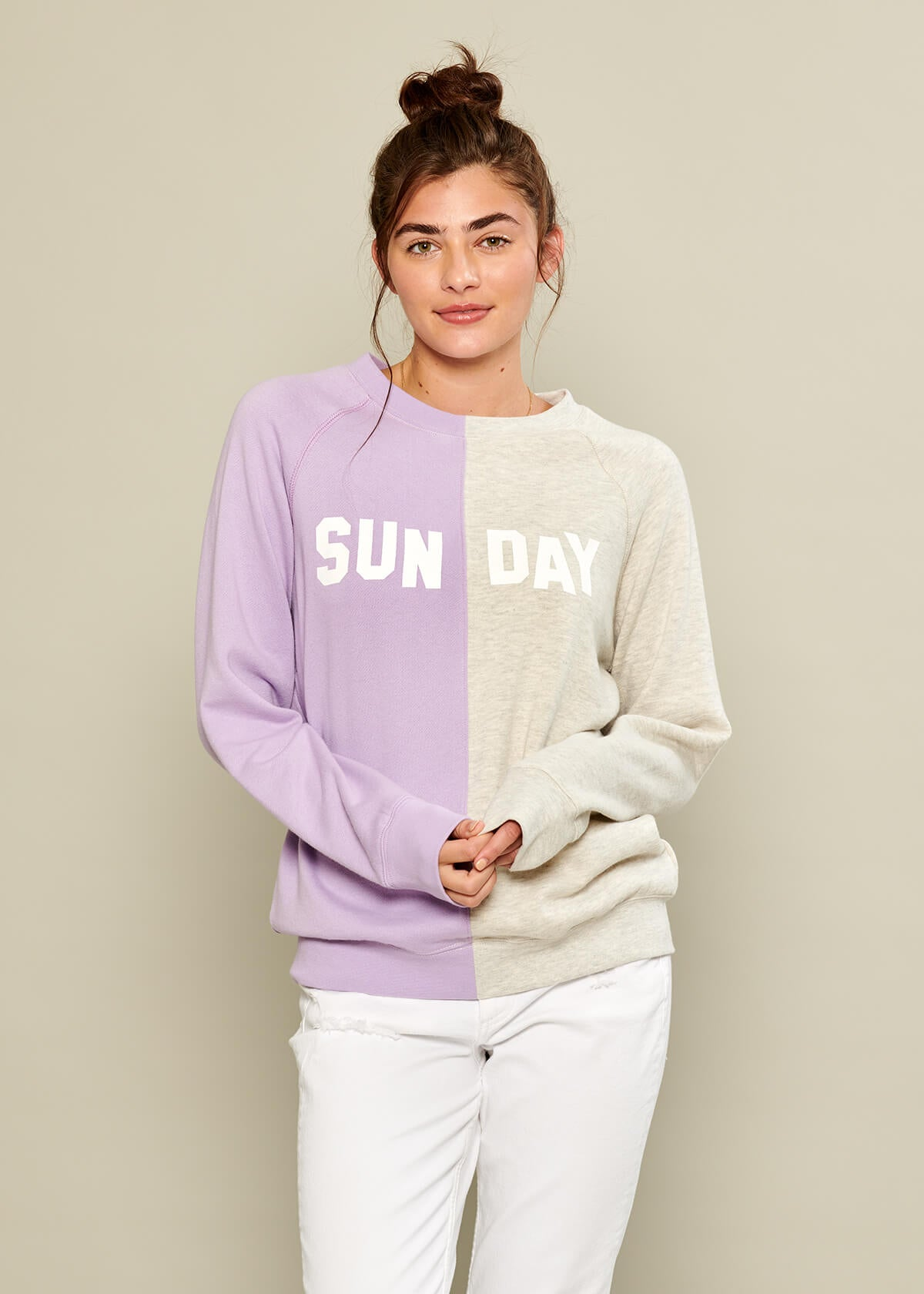 Rocky - Sweatshirt - Sunday - Lilac and Light Heather Gray