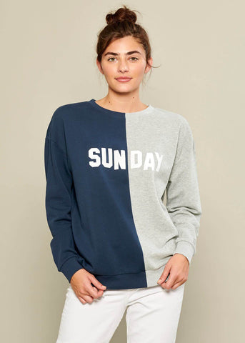 Rocky - Sweatshirt - Sunday - Navy and Gray