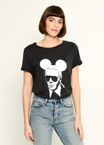 Lola - Loose Tee - Karl Mouse - Black