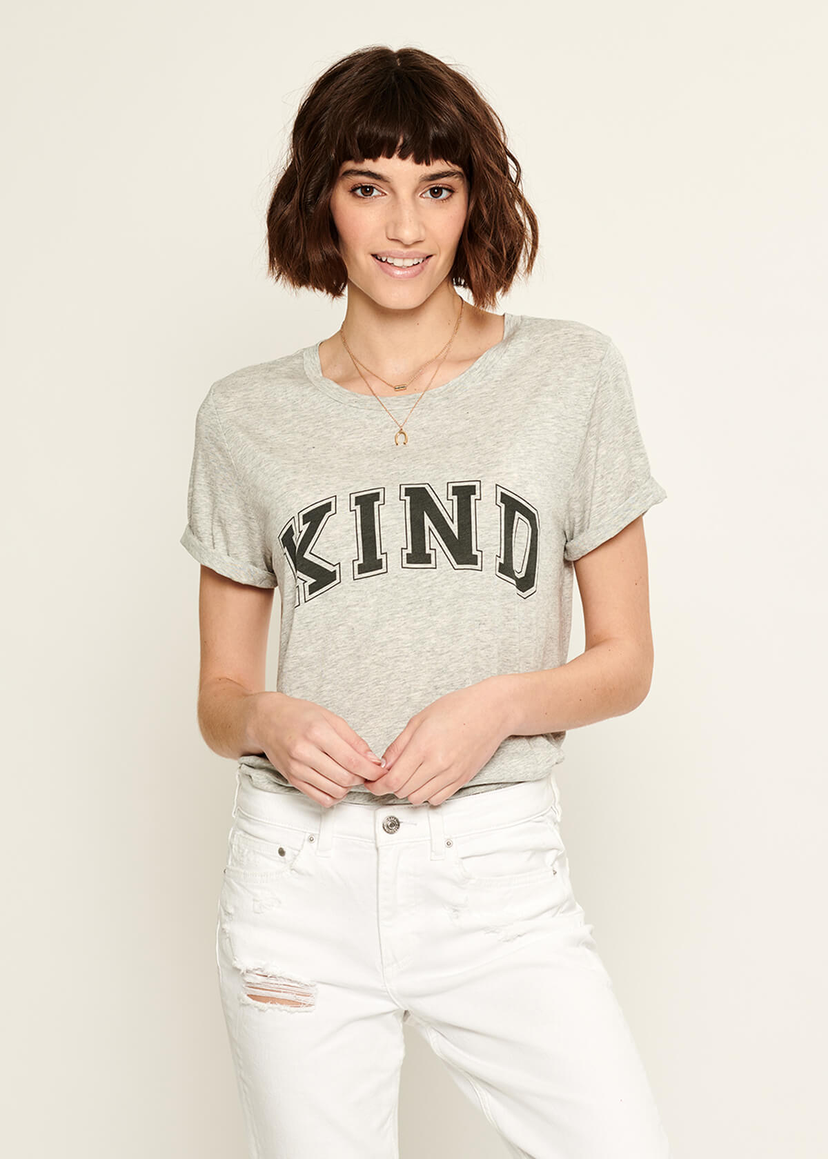 Lola - Loose Tee - Kind - Gray