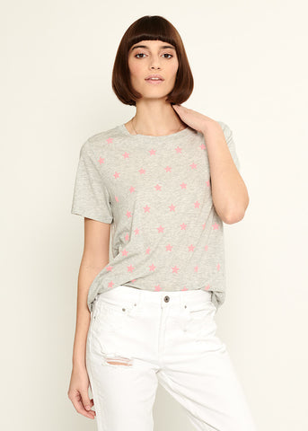 Lola - Loose Tee - Mini Stars - Gray