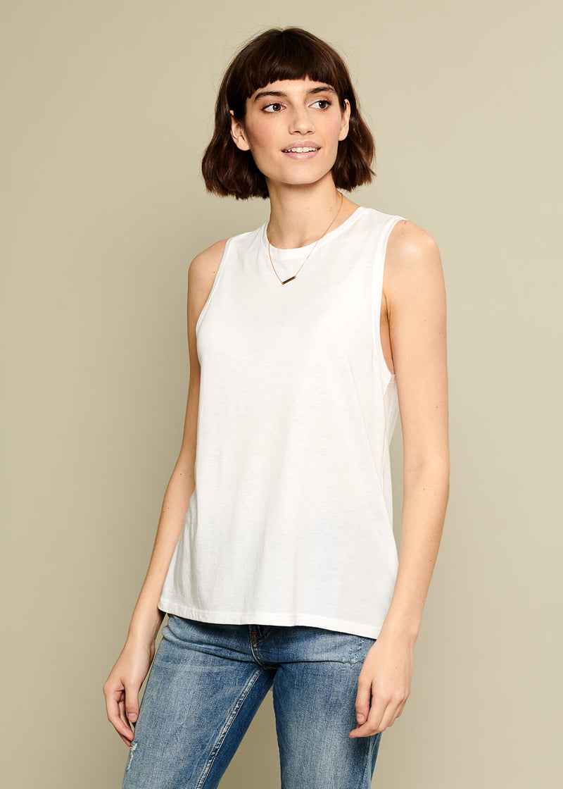 pima cotton white top