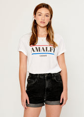 Lola - Loose Tee - Amalfi Coast - White