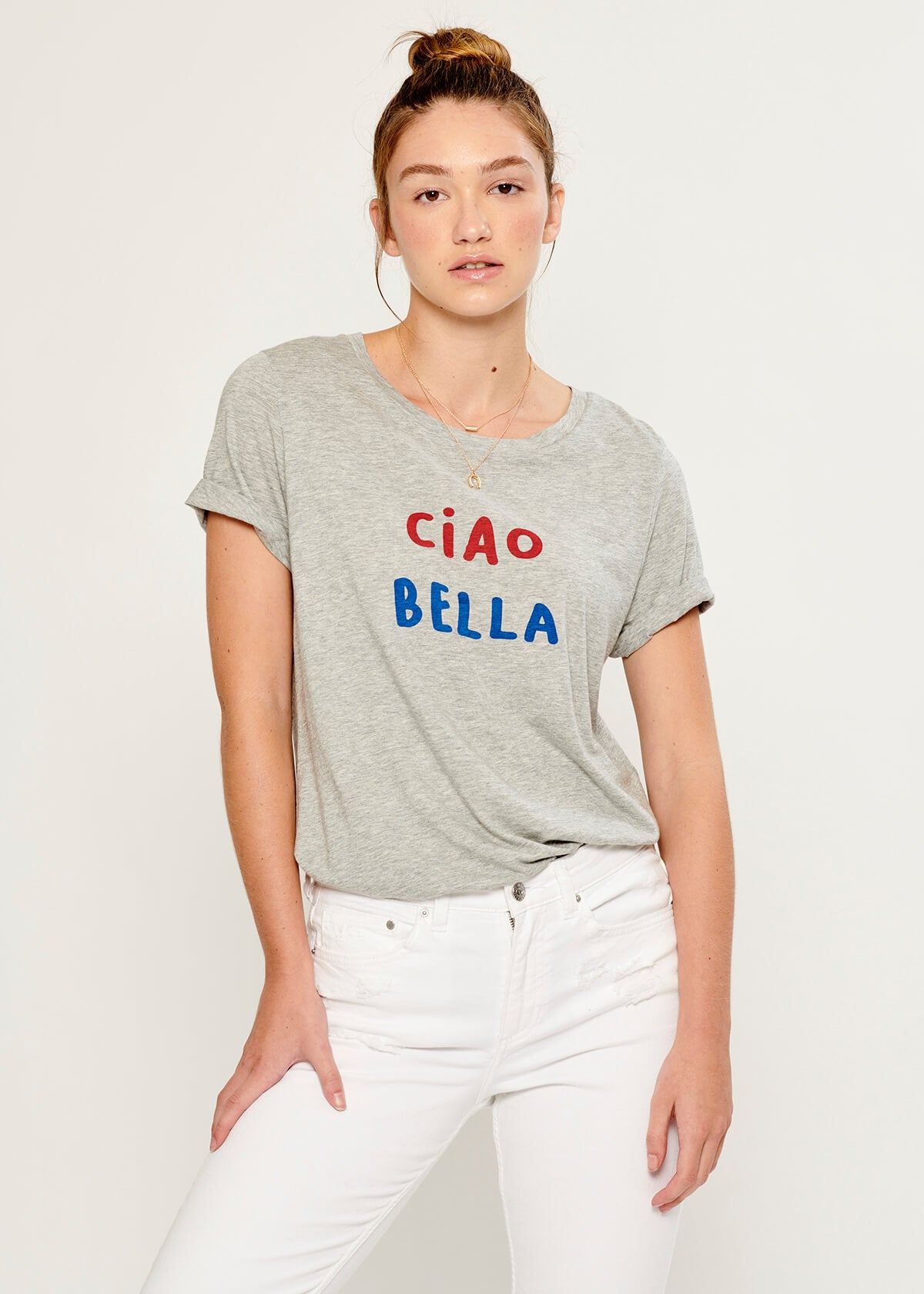 Lola - Loose Tee - Ciao Bella - Gray