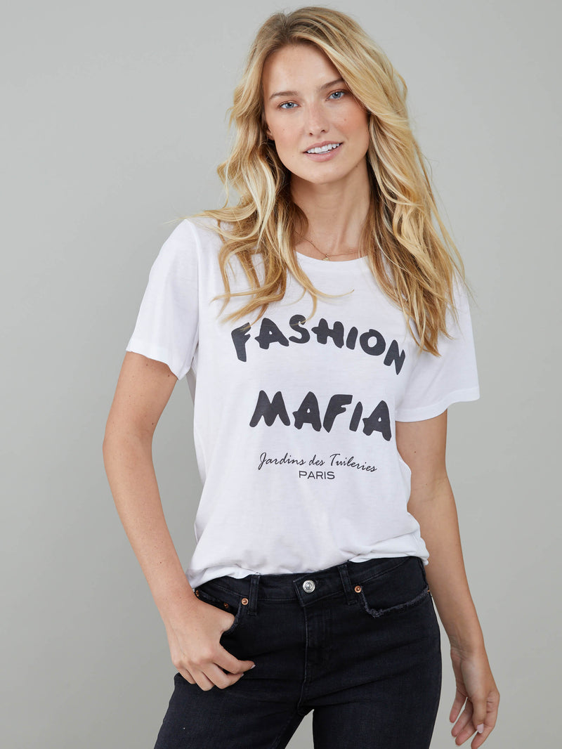 Lola - Loose Tee - Fashion Mafia - White
