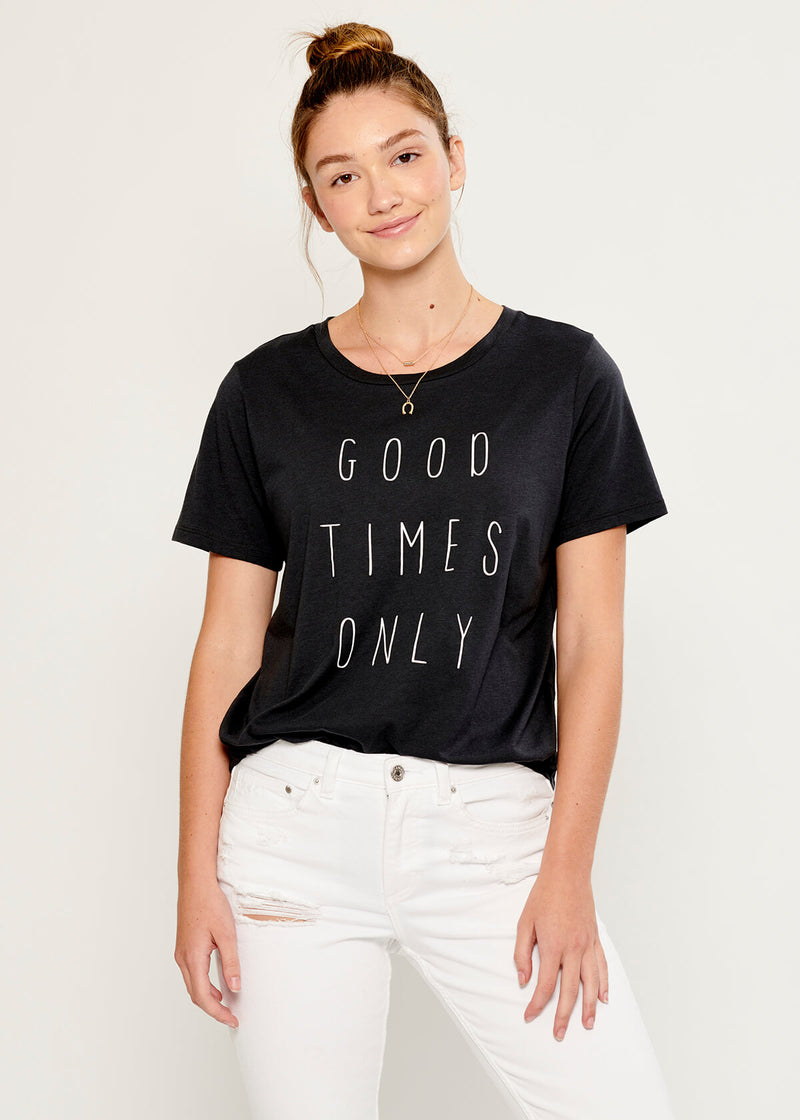 Lola - Loose Tee - Good Times Only - Black