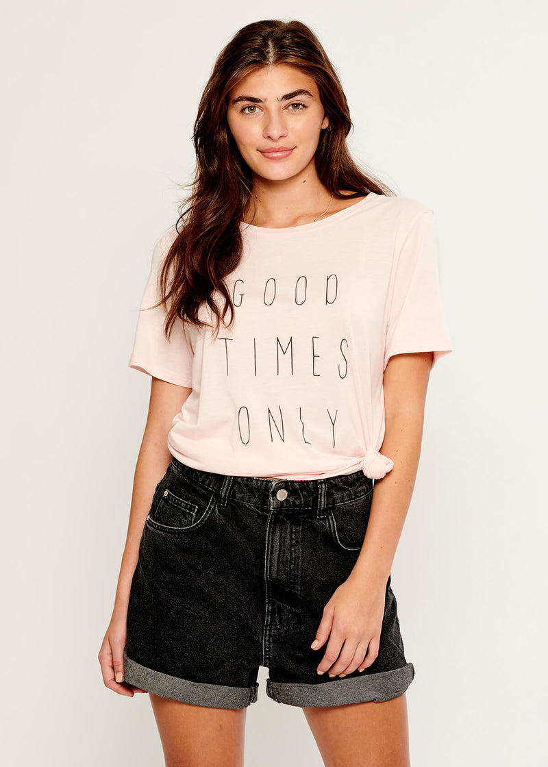 Lola - Loose Tee - Good Times Only - Pink