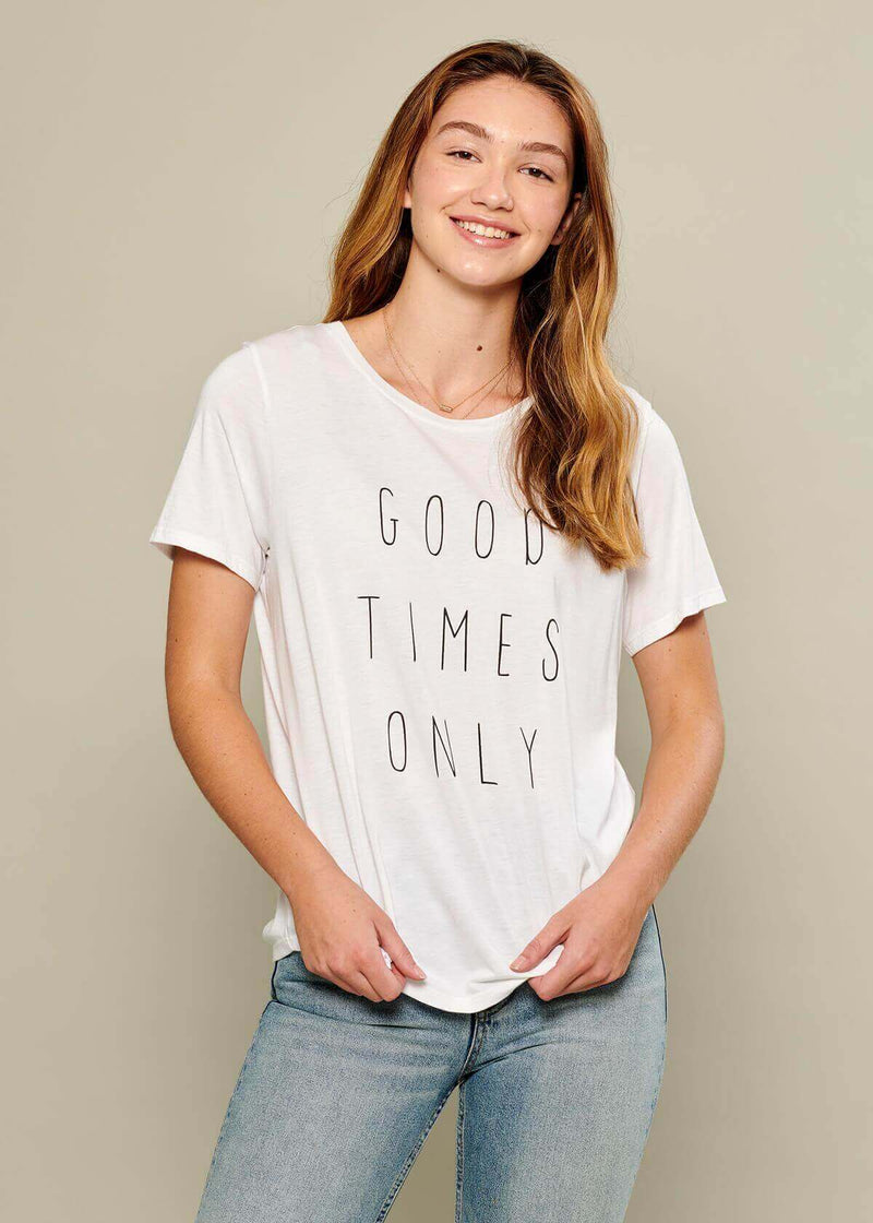 Lola - Loose Tee - Good Times Only - White