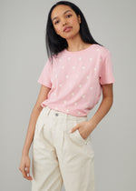 Jane – Boy Tee - Mini Stars - Rose Pink