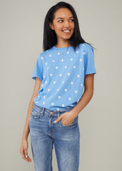 Jane – Boy Tee - Mini Stars - Sky Blue