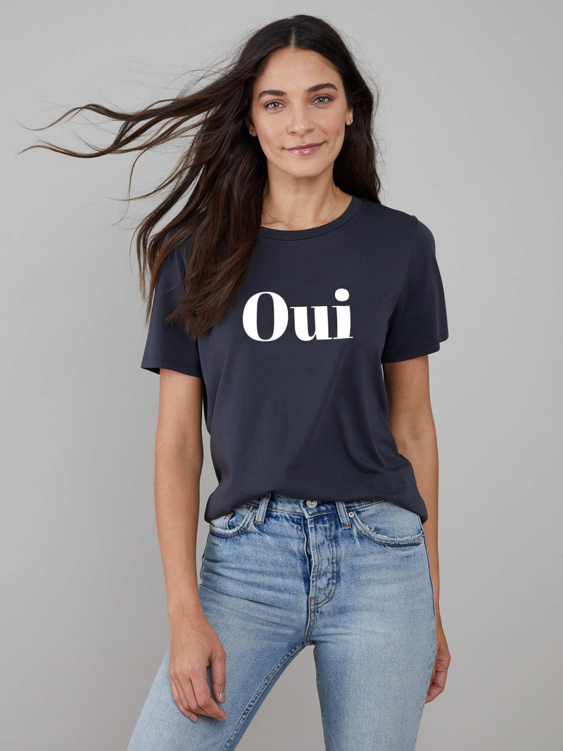 Lola - Loose Tee - Oui - Smoke Black