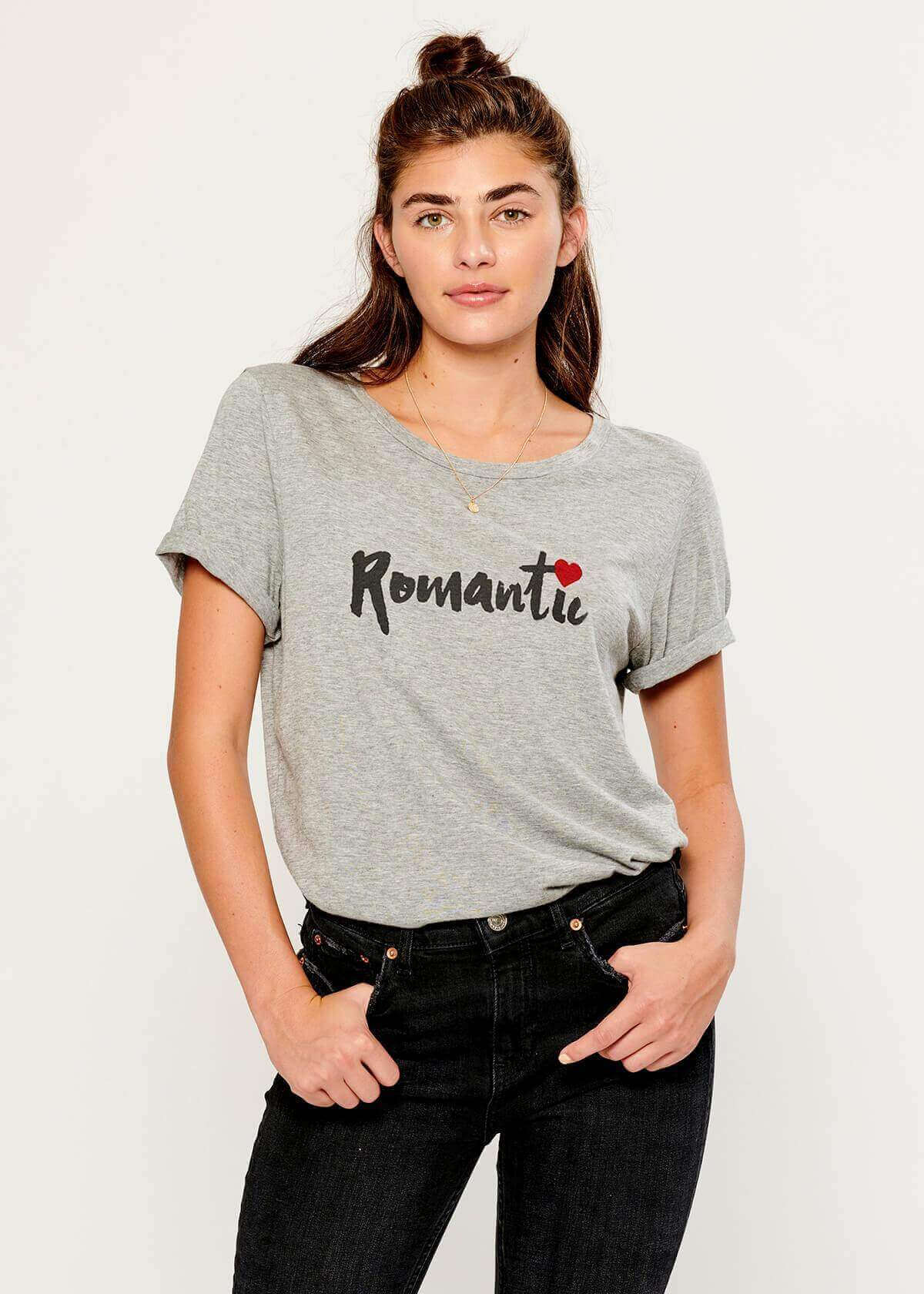 Lola - Loose Tee - Romantic - Gray