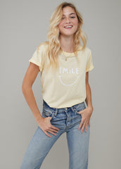 Jane – Boy Tee - Smile - Vanilla