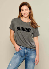 Lola - Loose Tee - Sunday - Gray