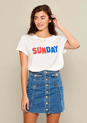 Lola - Loose Tee - Sunday - White