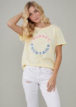 Jane – Boy Tee - Sunset Cocktails - Vanilla