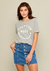 Lola - Loose Tee - Vacation Mode - Gray
