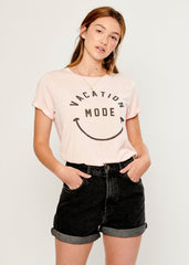 Lola - Loose Tee - Vacation Mode - Pink