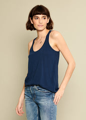 Bella - Racer Back Tank - Navy