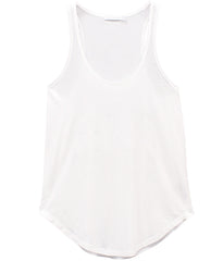 Bella - Racer Back Tank - White